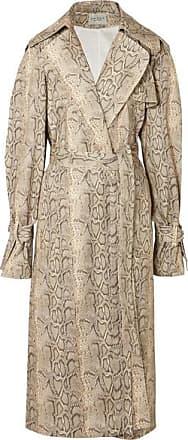 A.W.A.K.E. Dana Snake-print Cotton-blend Trench Coat - Snake print