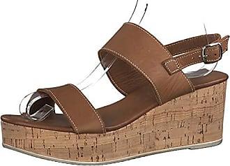 TAMARIS Riemchen Sandale mit Keilabsatz