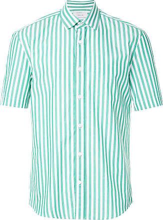Cerruti short sleeved stripe shirt - Green