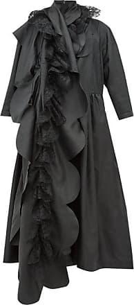 Comme Des Garçons Comme Des Garçons Comme Des Garçons - Scalloped-panel Technical-satin Dress - Womens - Black
