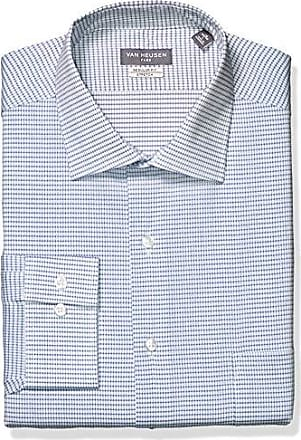 Van Heusen Mens Big Dress Shirts Tall Fit Flex Check, Blueberry 18.5 Neck 35-36 Sleeve