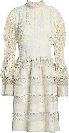 1bf97315a3 Anna Sui Anna Sui Woman Ruffle-trimmed Guipure Lace Dress Ivory Size 8