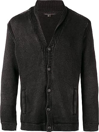 John Varvatos button knit cardigan - Black
