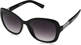 Steve Madden Womens Sm893161 Oval Sunglasses, Black, 56.5 mm