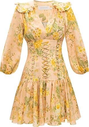 Zimmermann Patterned Dress Womens Yellow