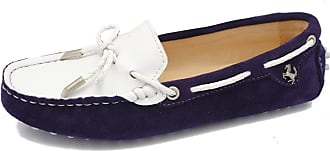 MGM-Joymod Womens Casual Comfortable Purple Suede Leather Bowknot Driving Outdoor Walking Weekend Loafers Flats Boat Shoes 5.5 M UK