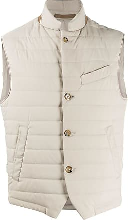 Eleventy fitted quilted gilet - NEUTRALS