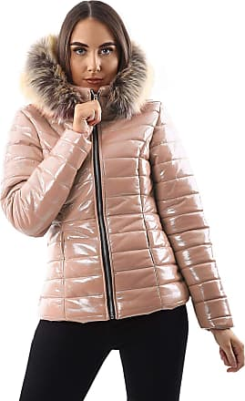 Love my Fashions Georgia Quilted Faux Fur Hooded Long Sleeve Padded Jacket Baby Pink
