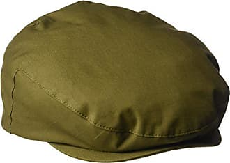 00147ca5 Henschel Mens Cotton Ivy Hat with Leather Accent, Olive X-Large