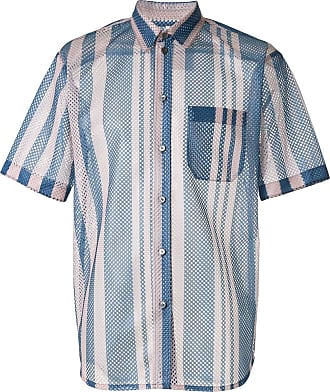 OAMC Institute striped mesh shirt - Blue