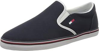 Tommy Jeans Womens Essential Slip On Sneaker Low-Top, Blue (Twilight Navy C87), 5 UK