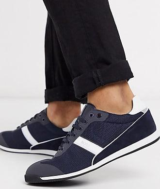 BOSS Business Glaze trainers-Blue