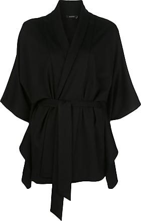 Natori Cardigan com amarração na cintura - Preto