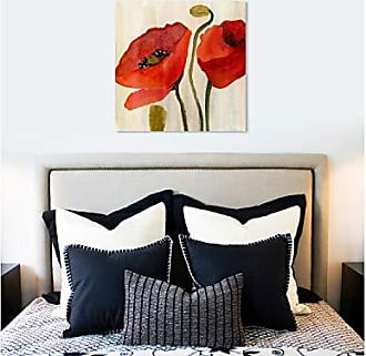 The Oliver Gal Artist Co. The Oliver Gal Artist Co. Floral Wall Art Canvas Prints Red Flowers Home Décor, 36 x 36, Gold