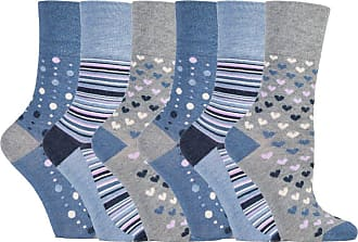 SockShop 6 pairs Gentle Grip Loose Top Non Binding Elastic Bamboo Socks UK 4-8 EUR 37-42 (RM35)