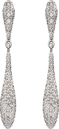 Acotis Limited Elements Silver Zirconia Pave Organic Drop Earring E5821C