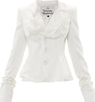 Vivienne Westwood Draped Single-breasted Satin Jacket - Womens - White
