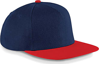 Beechfield Original Flat Peak Snapback Colour=French Navy/Classic Red Size=O/S