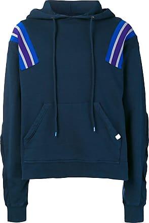 Facetasm oversized stripe detail hoodie - Azul