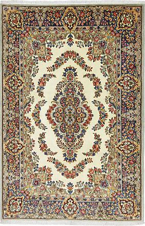 Nain Trading 180x118 Tappeto Orientale Kirman Lawar Beige/Marrone Scuro (Persia/Iran, Lana, Annodato a mano)