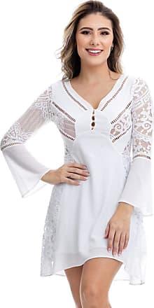Clara Arruda Vestido Clara Arruda Detalhe Renda 50308 - P - Off White