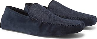 Loro Piana Walk At Home Suede And Cashmere Slippers - Navy