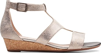 Clarks Womens Sandal Pewter Clarks Abigail Lily Size 9.5