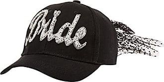 Betsey Johnson Womens Retro Bride Baseball Cap, Black, one Size
