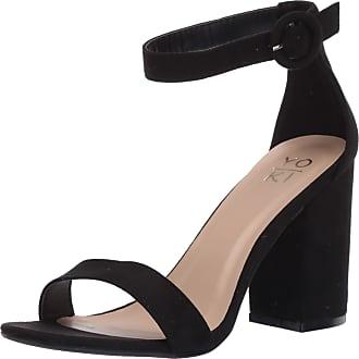 Yoki Womens Friday Heeled Sandal, Black, 6.5 UK