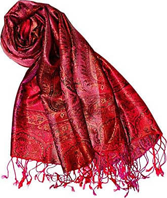 Lorenzo Cana Luxus Pashmina Damenschal Schaltuch jacquard gewebt 100/% Seide Paisley Muster Seidenschal Seidentuch florales Muster Mehrfarbig 78567