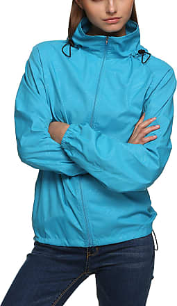 Zeagoo New fashion Waterproof Climbing Running Outdoor Hoodie Coat Sport Cycling Jacket Sky Blue XX-Large