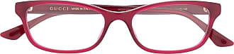 Gucci Armação de óculos retangular GG0730O - Vermelho