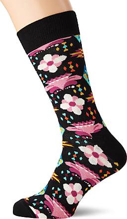 Happy Socks Mens Temple Blossom Sock, Multicolour (Multicolour 900), 7-10 (Size:41-46)