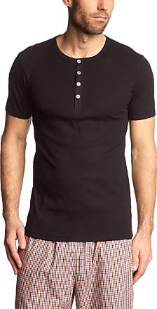 Schiesser Mens Naturbursche Vest, Black-Black (000-Black), 6
