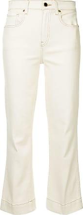 Khaite Calça jeans flare cropped Fiona - Neutro