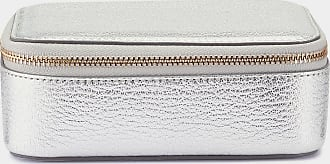Anya Hindmarch Bespoke Medium Keepsake Box Metallic Capra Leather in Silver
