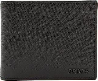Prada Tri-colour Leather Bi-fold Wallet - Mens - Black Multi