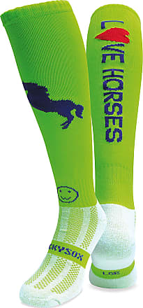 Wackysox Love Horses Lime Equestrian Socks