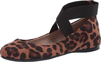 Jessica Simpson Womens Mandayss Ballet Flat, Leopard Micro Suede, 5.5 UK