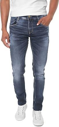 Sawary Calça Jeans Sawary Slim Estonada Azul