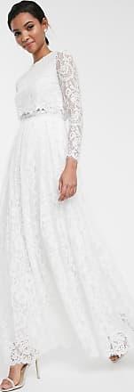 Asos Grace - Crop top bruidsjurk van kant-Wit