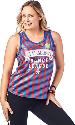 Zumba Breathable Jersey Workout Tops Fitness Dance Sexy Tank Tops for Women, Really Red-y, S