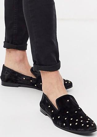 Kurt Geiger Kurt Geiger studded velvet loafer in black
