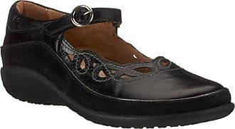 Naot Naot Womens Rahina Mary Jane Flat, Black Leather/Black Suede, 41 EU/9.5-10 M US