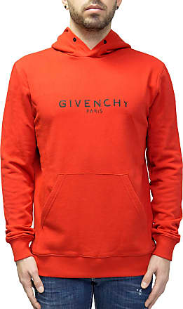 Givenchy Faded Logo Hoodie Sweatshirt (L) Red