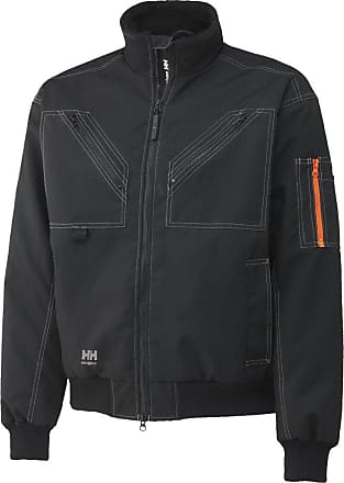 Helly Hansen Mens Bergholm Zip-Up Chest Pocket Insulated Work Jacket Black