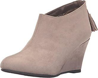 Chinese Laundry Womens Via Wedge Bootie, Dark Taupe Super Suede, 6.5 M US