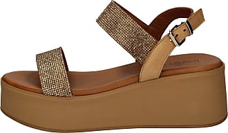 Inuovo 602005 Womens Sandals, Leather, Wedge Sandals Brown Size: 5 UK