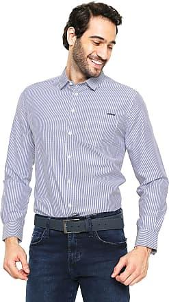 Colcci Camisa Colcci Slim Listrada Azul