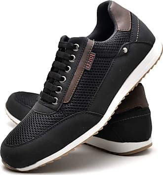 Juilli Sapatênis Sapato Casual Masculino Com Cadarço JUILLI R1100DB Tamanho:38;cor:Preto;gênero:Masculino